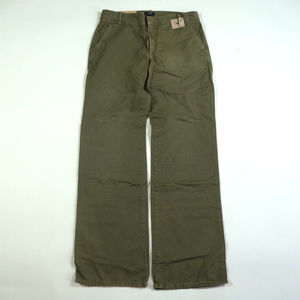 J. Crew Low Fit Boot Cut Size 2 Green Chino Pants